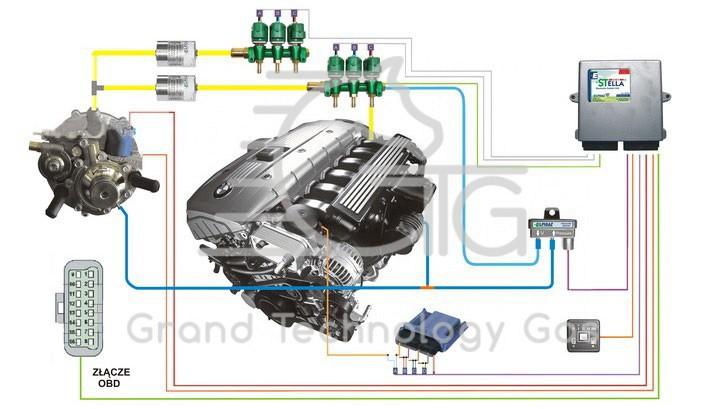 Схема установки ГБО 4 для Elpigaz