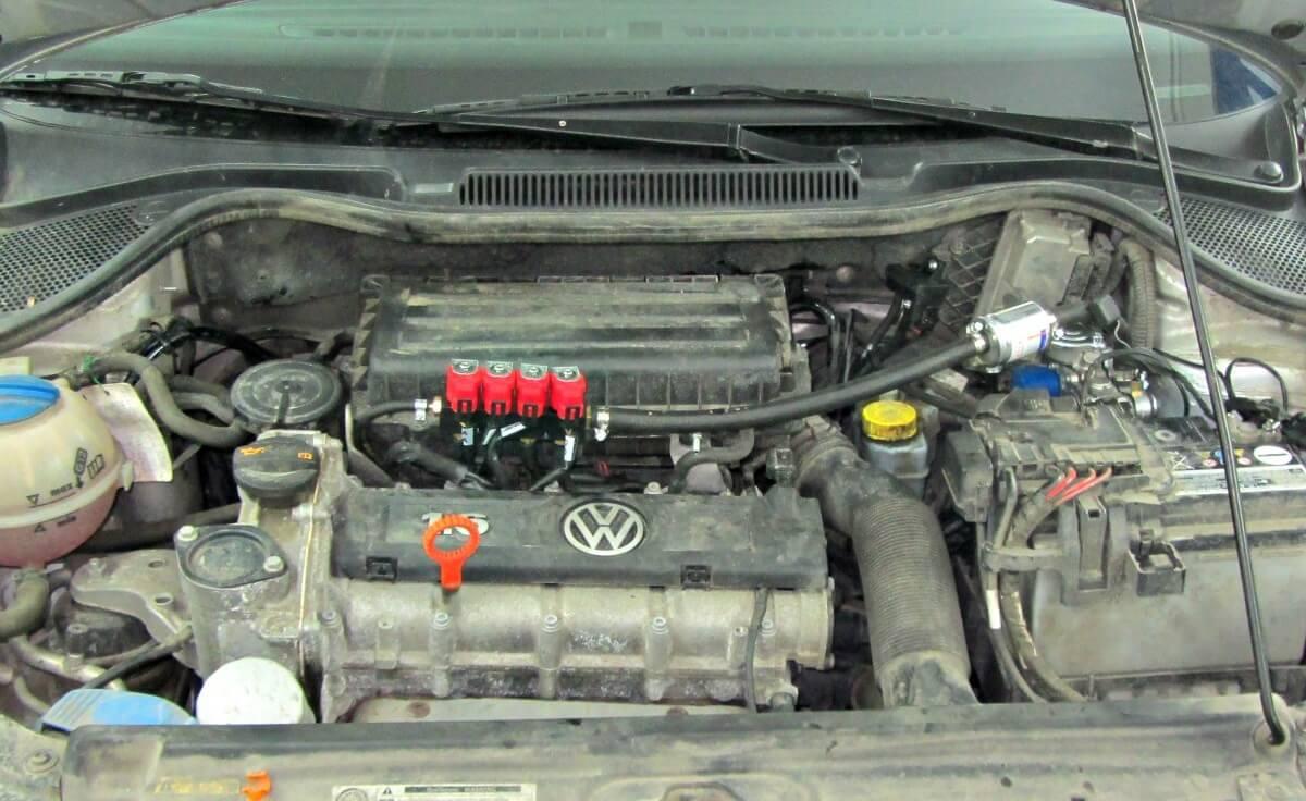 Установка газового оборудования на Volkswagen
